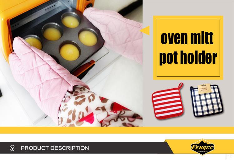 Aangepaste food grade warmte-isolatie grillen pannenlap