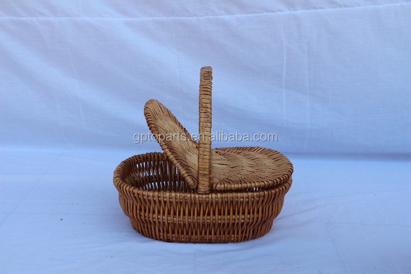 Christmas gift natural willow basket