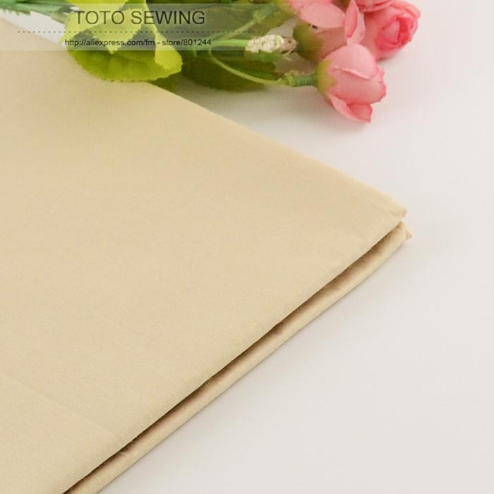 50cmx160cm piece Light Khaki cotton Fabric for Tilda Doll Twill Cloth Patchwork Quilting bedding home textile