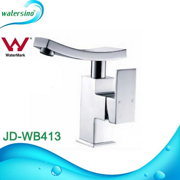 square design industrial water waterfall wash basin faucets curved sanitary