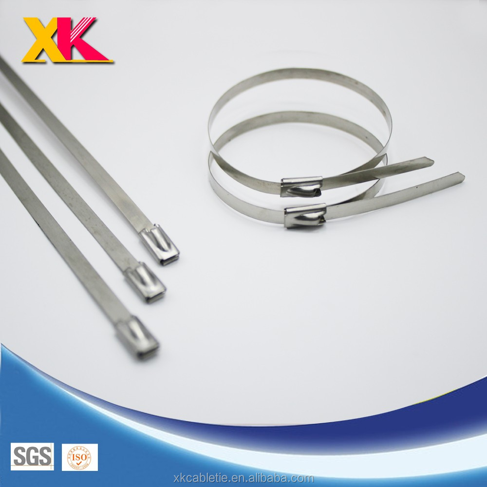 Roll Ball Self locking Epoxy Coated Stainless Steel Cable Ties 4.6mm*350mm