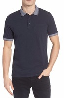Classic deep color men's 2017 new polo shirts with private label