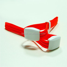 Eco-friendly fabric RF remote controlled LED bracelet/wristband