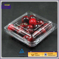 Disposable Small PS/PET Clear Plastic Fruit and Vegetable Packaging cherry tomato kiwi packaging With printing