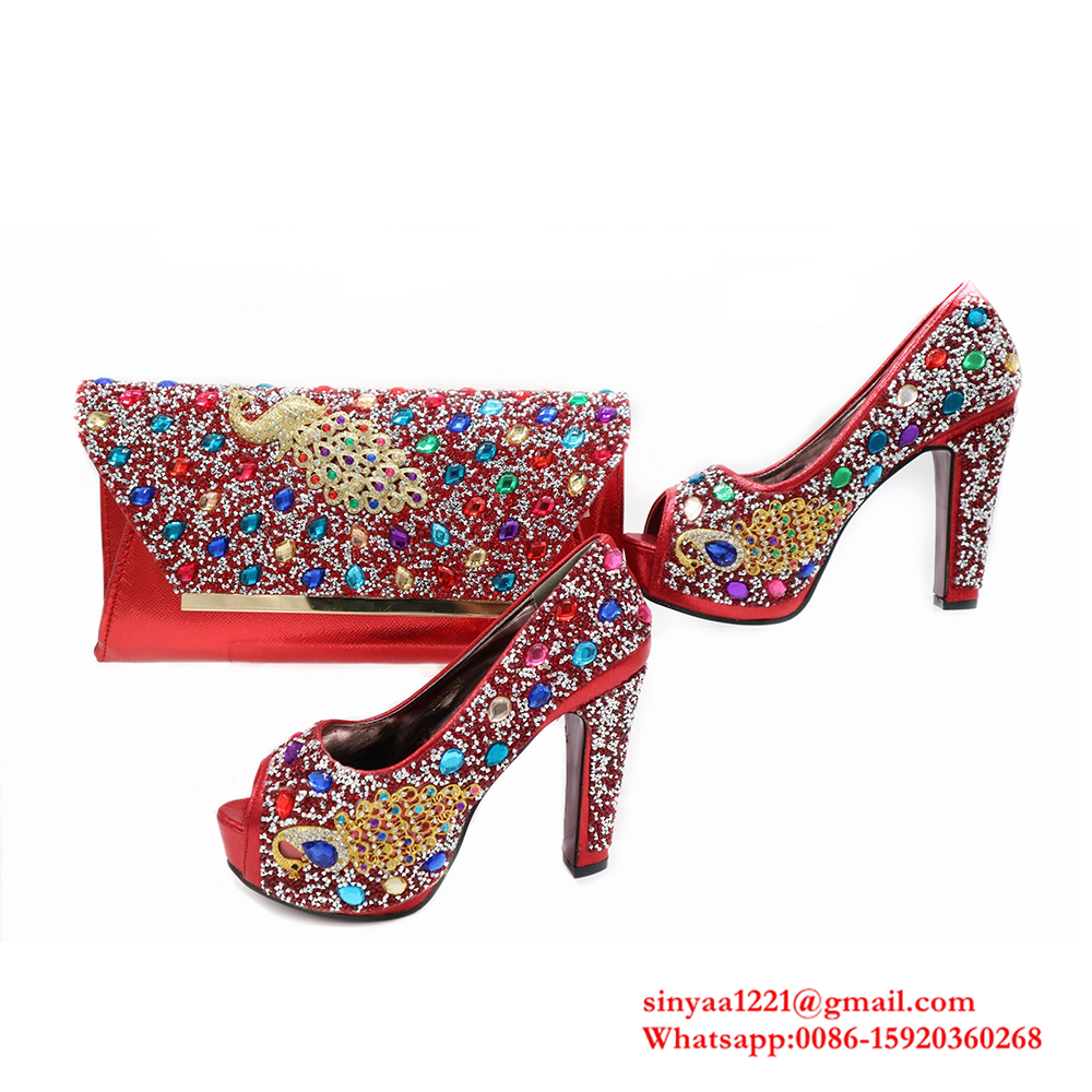 blue Sinyafashion and shoes and shoes for italian bag set set wedding wholesale bag royal 5ppqSxwa
