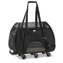 Airline Approved Pet Carrier with Wheels for Small Pets