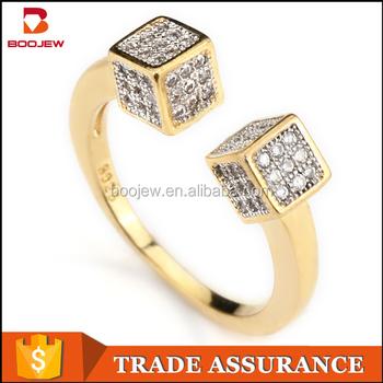 Dubai Gold Plated Sterling Silver Rings Designs For Girl line