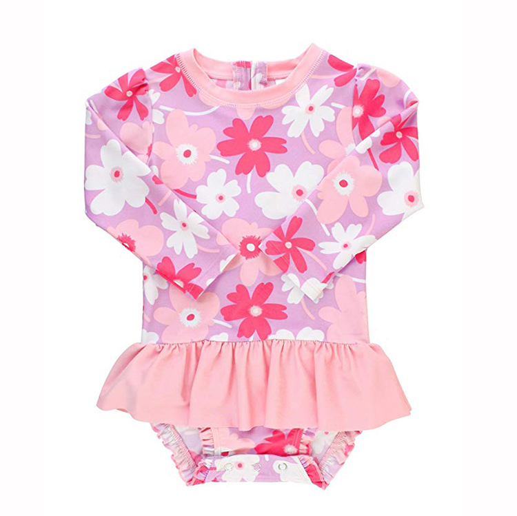 Sun Protection Baby Girl One Piece Swimsuit with UPF 50