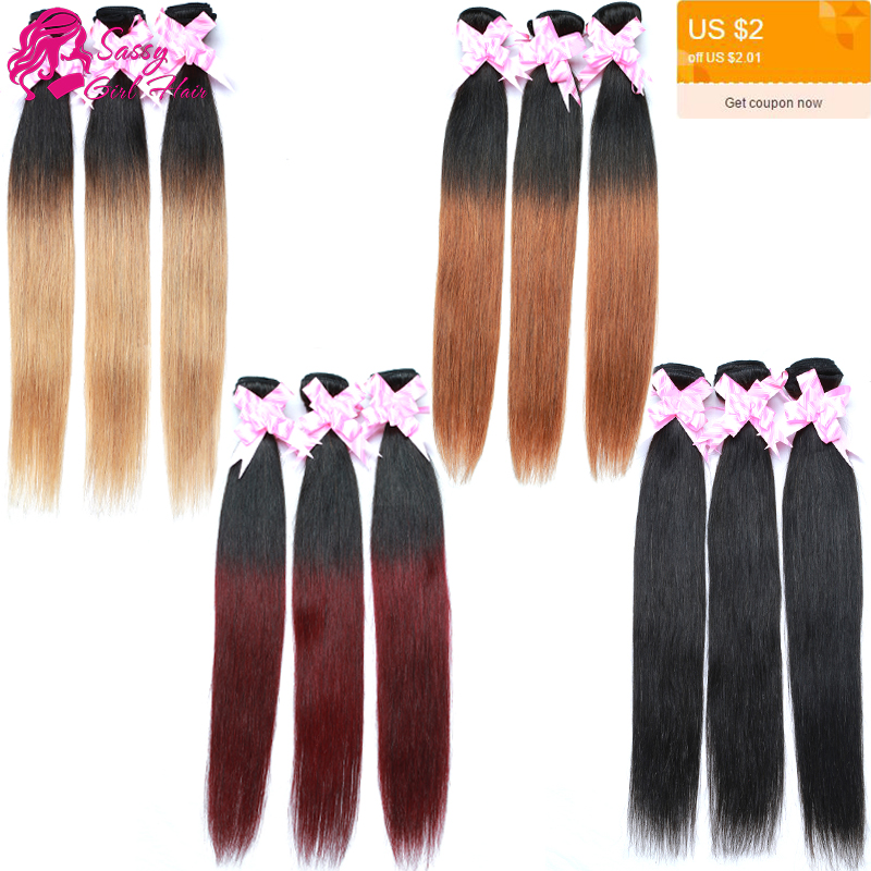 1b 30 Burgundy Ombre Brazilian Hair Straight Honey Blonde Brazilian Hair Weave Queen Hair Products 4