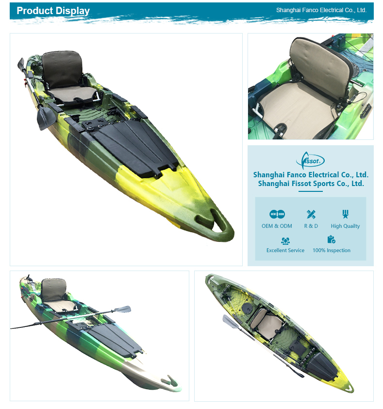 High quality optional colors ocean sale single pedal kayak fishing for bays lakes estuary river