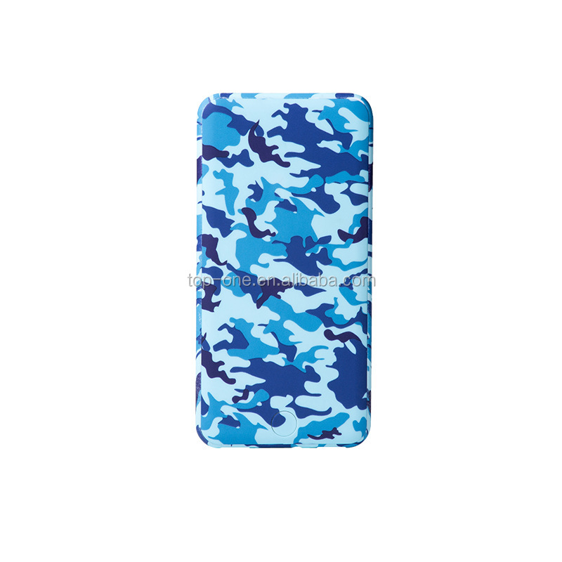 New Product Ultra-thin Card Fast Charging Camouflage Mobile Slim Cheap Power Bank For Phone