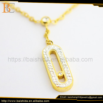 gold color stainless steel chain bracelet jewelry model jewelry display