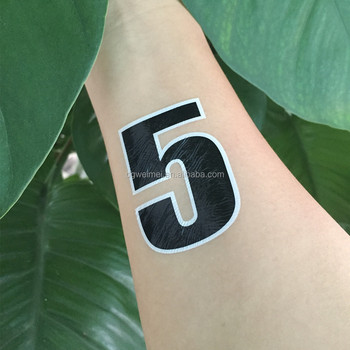 Non Toxic Sports Game Give Me Five Triathlon Number Body Tattoo
