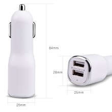 Newest hot sale high quality quick charge 2.1a usb car charger dual ports