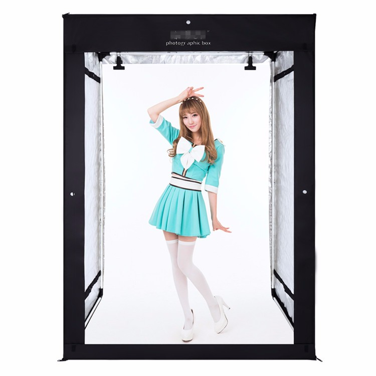 120cm*100cm*200cm video light box Photography Studio Video Tent with dimmable LED