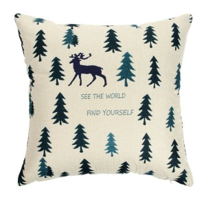 Car Neck Pillow Custom Deer Throw Pillow