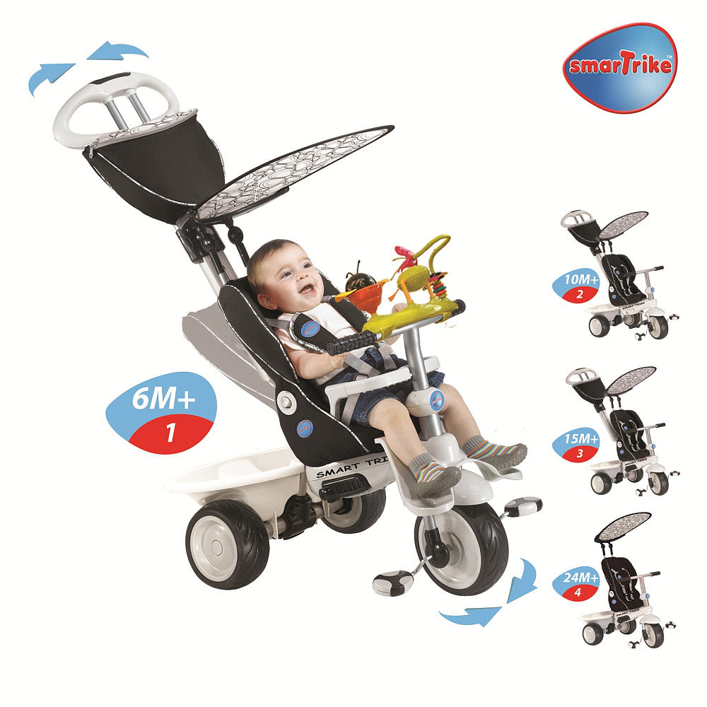 smart trike 4 in 1 recliner child stroller tricycle inride. Black Bedroom Furniture Sets. Home Design Ideas