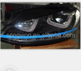 new vw golf 7 R20 high quality ABS material led head lamp