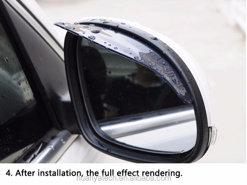 High quality Flexible PVC Car Accessories Rearview Mirror Rain Shade Rainproof Blades / Car Back Mirror Eyebrow Rain Cover