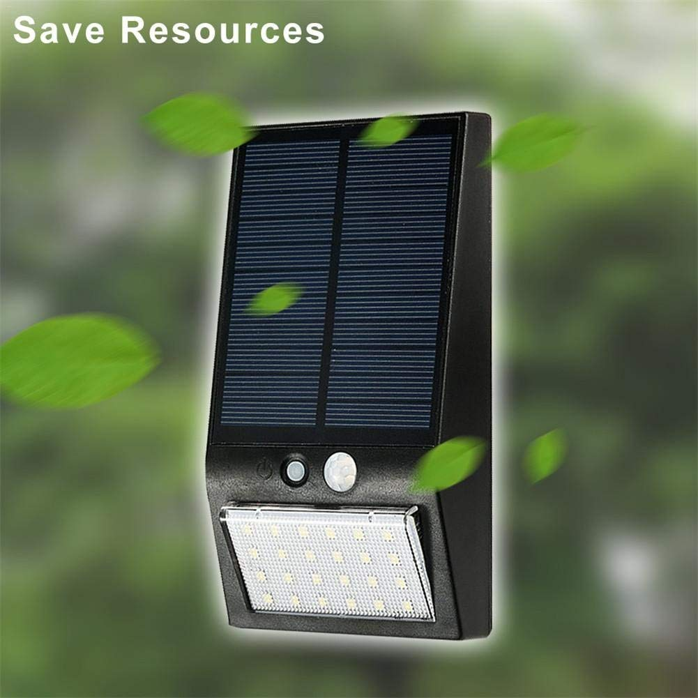 Laideyilan 24LED Solar Induction Light Waterproof Security Bright Motion Sensor Solar Spotlight Lights Body Induction Light Outdoor Waterproof Garden Courtyard Wall Lamp