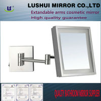 high quality bathroom 5x magnification wall mounted 15x magnifying mirror with light