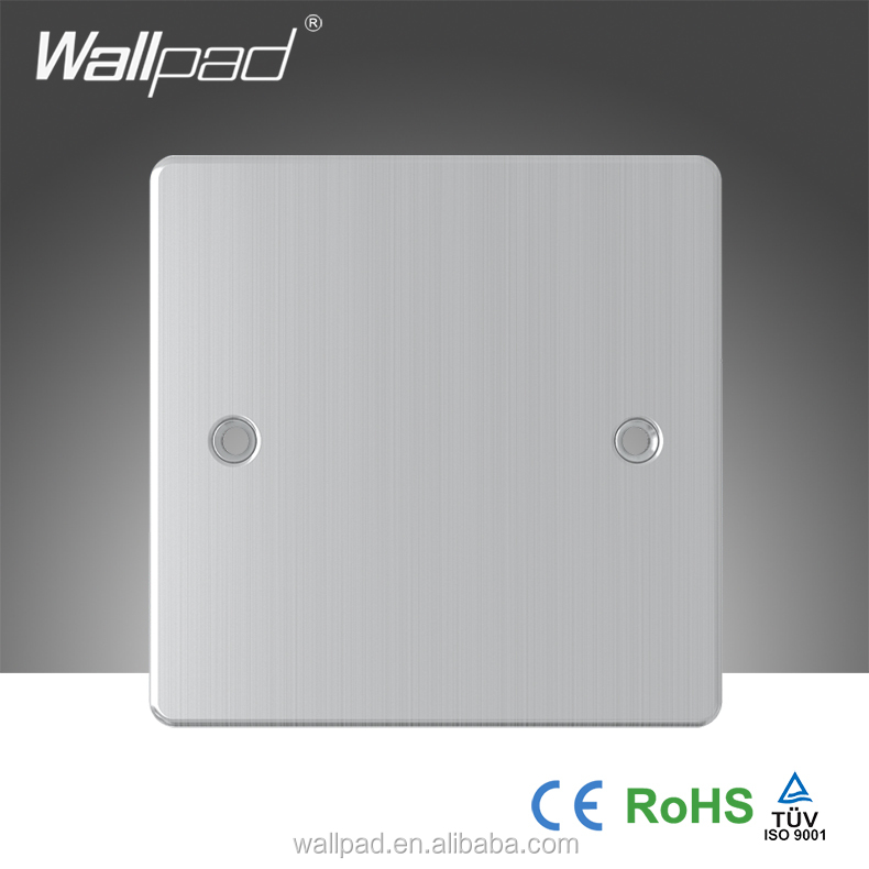 2015 Hot Selling Wallpad Metal Face Modular Single Wall Switch Blank Plates