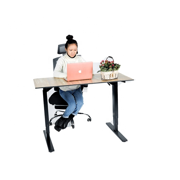 Conform to ergonomic two motor furniture office electric height adjustable sit standing desk for modern