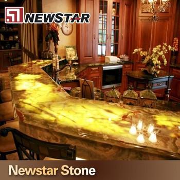 Backlit Onyx Kitchen Countertop Stone
