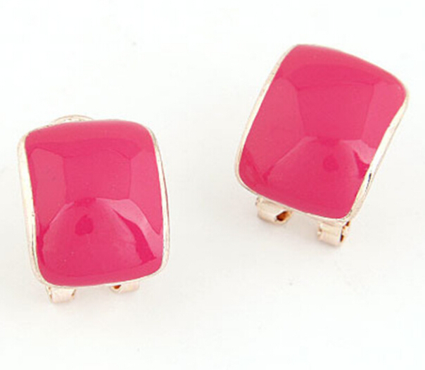 Hot Sale Candy Color Square Shape Stud Earrings for Girls, Fashion Stud Earring for Party, Awesome Cheap Earrings Jewelry
