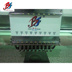 Dahao embroidery machine software 9 needles 2 Heads flat Computer Embroidery Machine Prices
