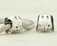 Main gros 925 Sterling Silver belle chien tête charms perles bijoux