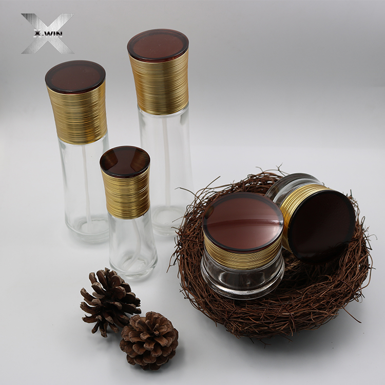 high quality new design 30ml-120ml lotion eye cream double wall glass bottle