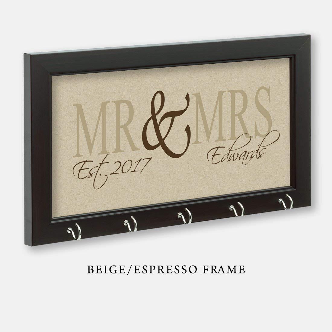Mr & Mrs Key Holder, Key Hanger, Wall Key Rack, Wall Key Holder, Key Holders, Personalized Gift, Home, Housewarming Gift, Wedding Shower Gift, Wedding Gift
