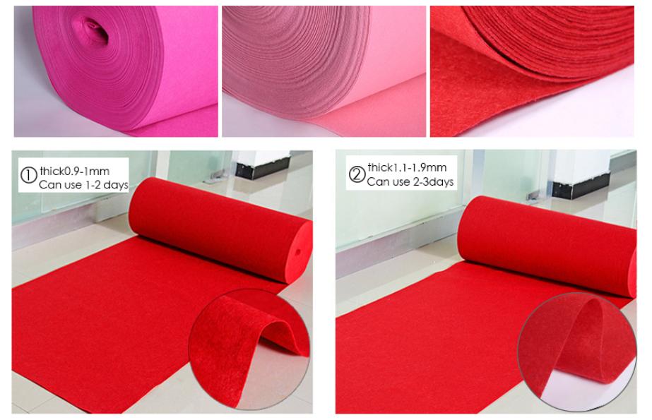Precio barato al aire libre barato impermeable rojo liso alfombra de exposición