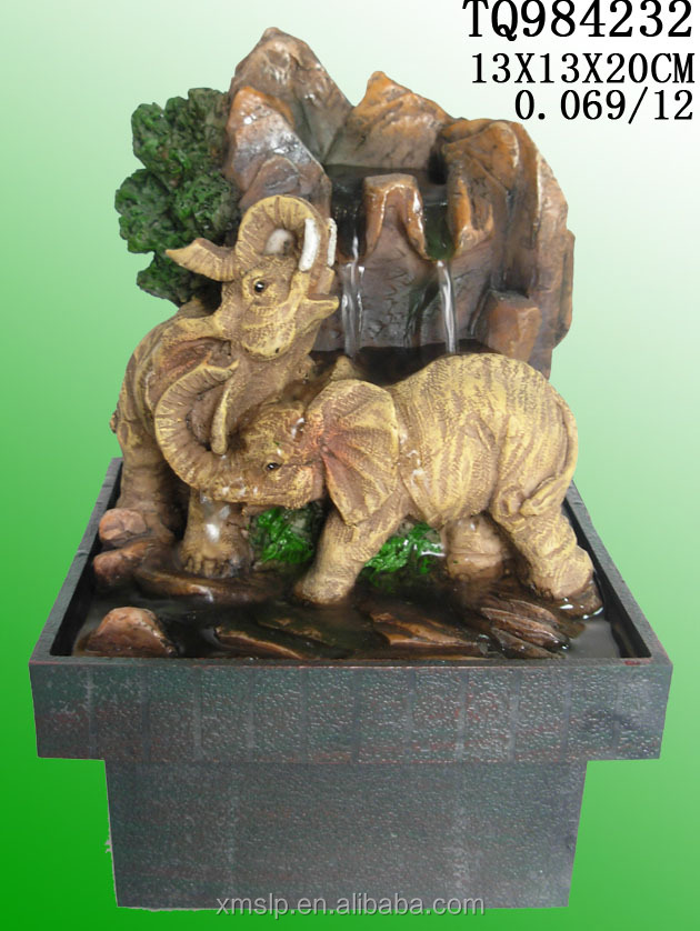elephant polyresin water fountain