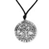 Drop-shipping online sell antique silver tree pendant viking necklaces