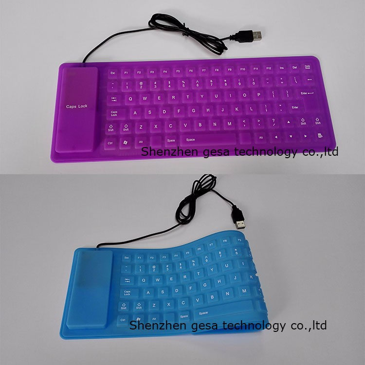 silicon material Portable keyboard for laptop