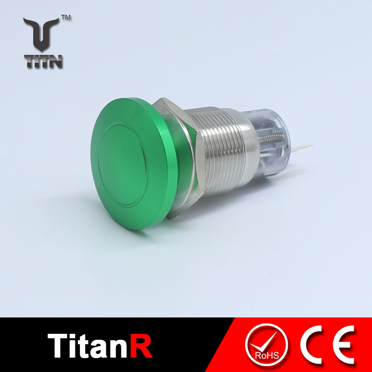 Rotary green push pull button switch 240v
