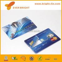 Factory cheap custom credit card shape usb flash drive