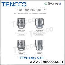Authentic SMOK TFV8 Baby Tank Coil X4 Q2 T6 T8 V8 Baby -T8 for Alien Kit