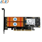 M.2 PCIe Card, M2 NVME (M Key) and SATA (B Key) SSD Msata PCI-E 3.0 x4 Host Controller Expansion Card Adapter Reader