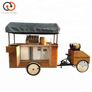 factory high quality 4 wheels coffee bike trailer for coffee shop beer bicycle food truck for sale