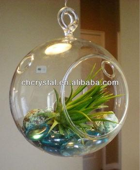 Orb Glass Terrarium 100mm 4inches Air Hanging Glass Globe Plant