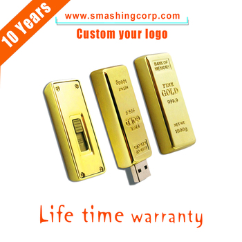 8GB USB Stick Gold bar usb flash drive factory price,usb pen drive sample available,usb 2.0 driver good quality CE/ROhs