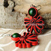 Hot Sales Emerald Stone Earring, Modish Cloth Earring (SWTNJGS660-2)