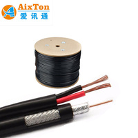 Factory selling Coaxial Cable RG59 RG6 RG11 light weight heat resistance 100% copper OEM available CE/ROSH/UL approved CCTV/MATV