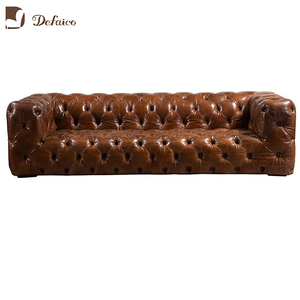 Brown Living Room Sofas Vintage Leather Aviation Furniture other antique furniture