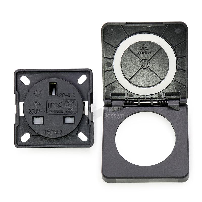 Bosslyn Bs1363 Ip54 Uk Socket Plug Outdoor Power Wall