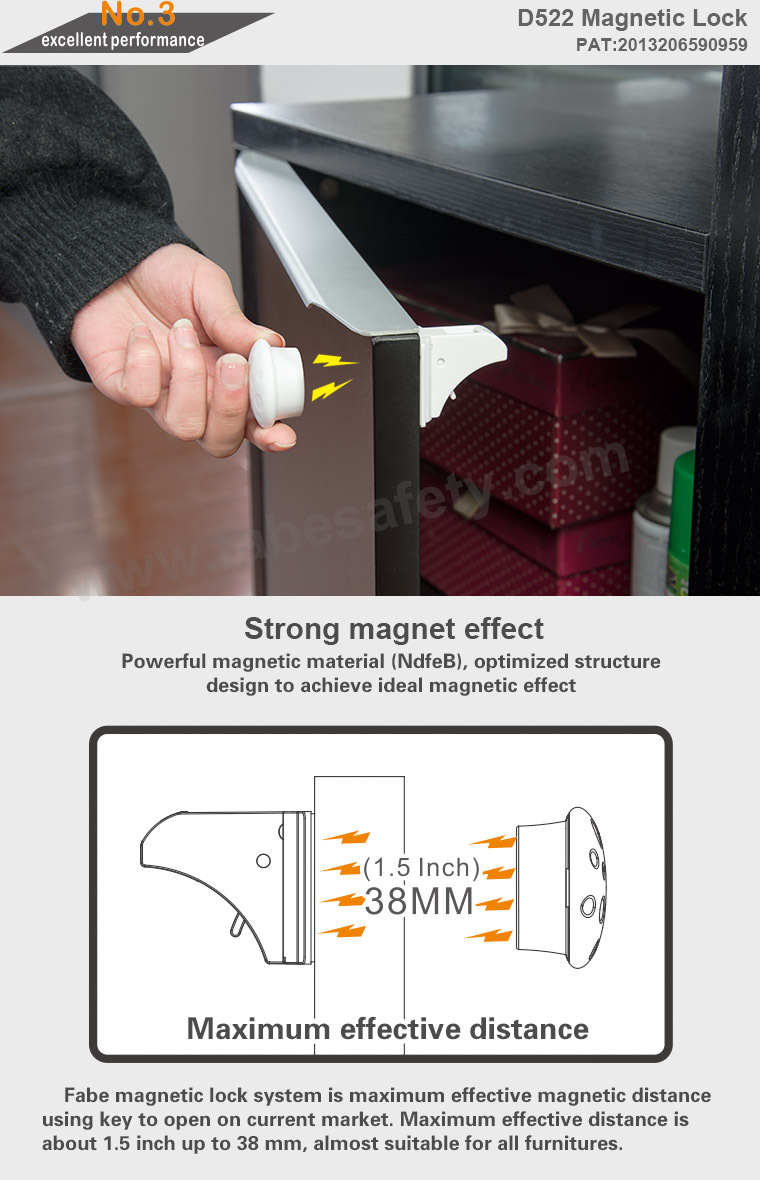 Oem Magnetic Baby Child Kids Safety Lock Locking System Drawer Cabinet Cupboard With