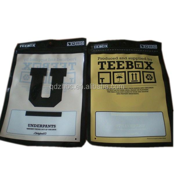 Pa pe personalizada impresa ropa interior pouch packaging for Packaging ropa interior